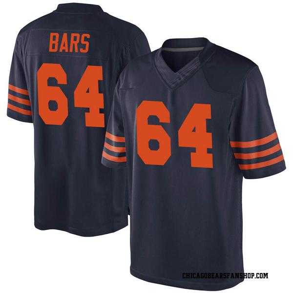 Men's Alex Bars Chicago Bears Game Navy Blue Alternate Jersey