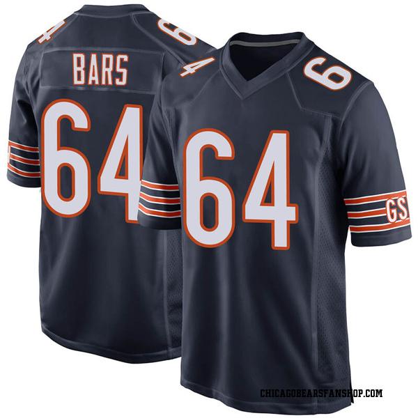 Men's Alex Bars Chicago Bears Game Navy Team Color Jersey