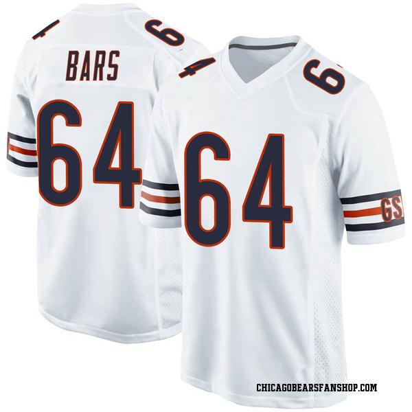 Men's Alex Bars Chicago Bears Game White Jersey