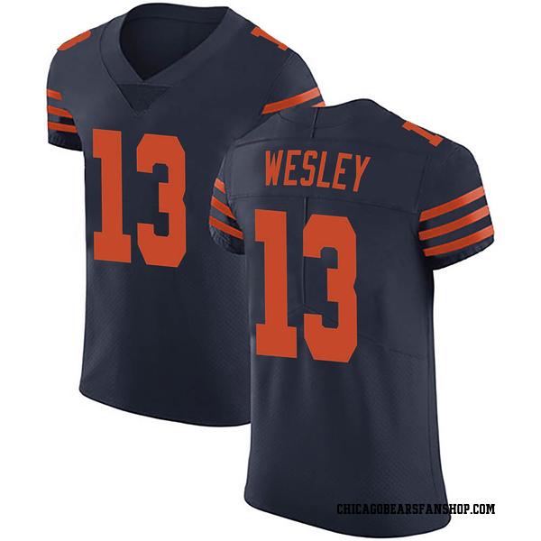 Men's Alex Wesley Chicago Bears Elite Navy Blue Alternate Vapor Untouchable Jersey