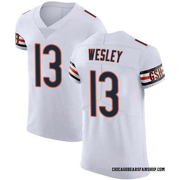 Men's Alex Wesley Chicago Bears Elite White Vapor Untouchable Jersey