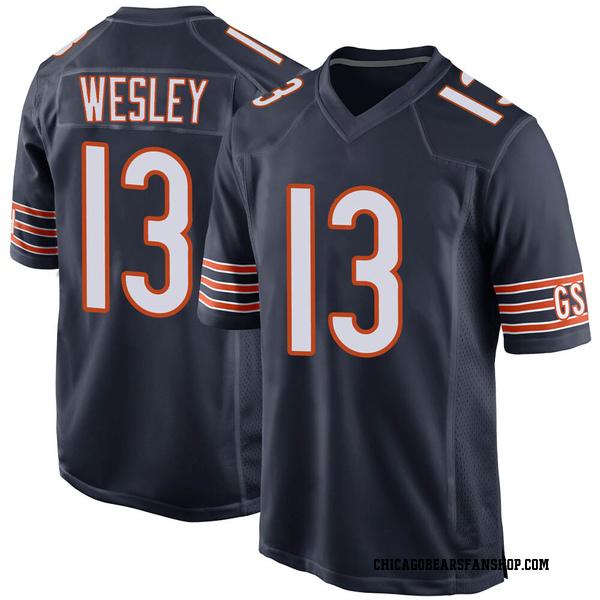 Men's Alex Wesley Chicago Bears Game Navy Team Color Jersey
