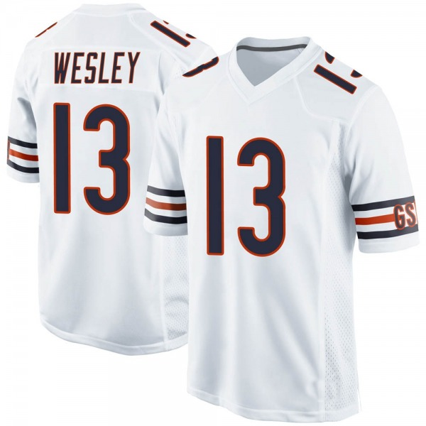 Men's Alex Wesley Chicago Bears Game White Jersey