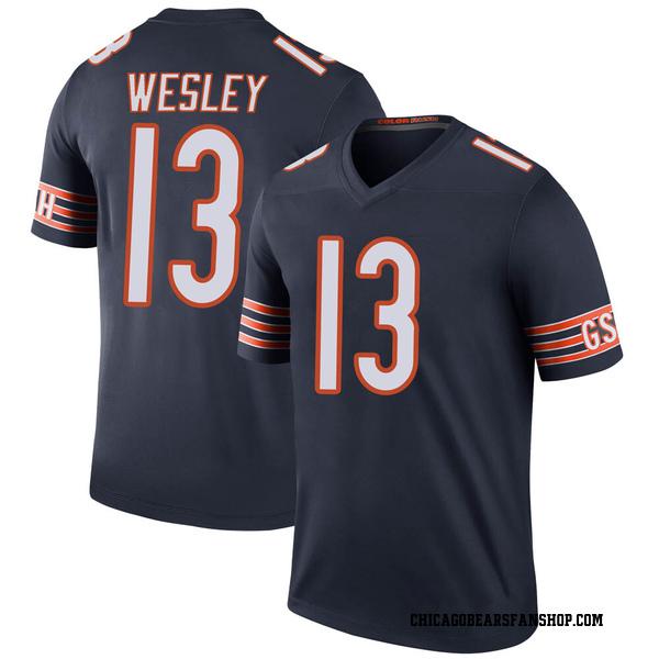 Men's Alex Wesley Chicago Bears Legend Navy Color Rush Jersey