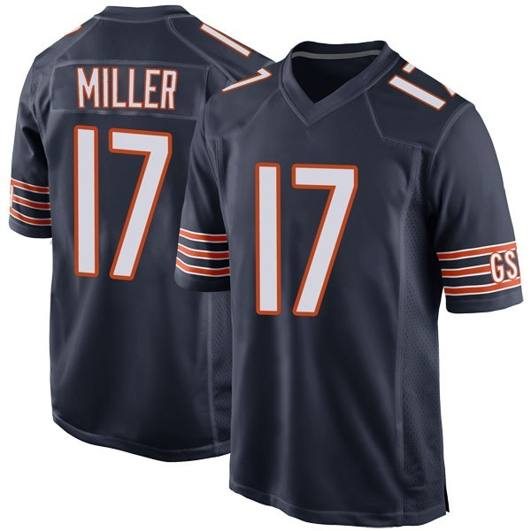 Men's Anthony Miller Chicago Bears Game Navy Team Color Jersey
