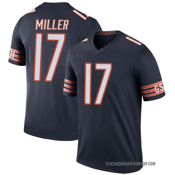 Men's Anthony Miller Chicago Bears Legend Navy Color Rush Jersey