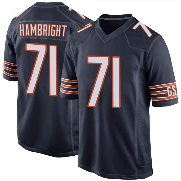 Men's Arlington Hambright Chicago Bears Game Navy Team Color Jersey