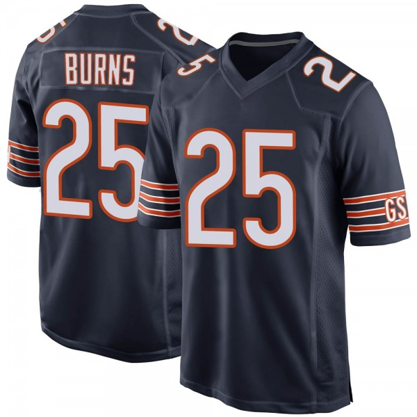 Men's Artie Burns Chicago Bears Game Navy 100th Season Jersey