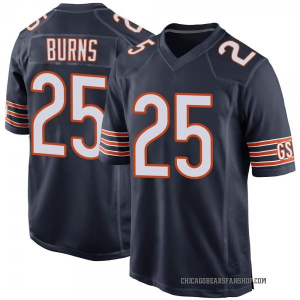 Men's Artie Burns Chicago Bears Game Navy Team Color Jersey
