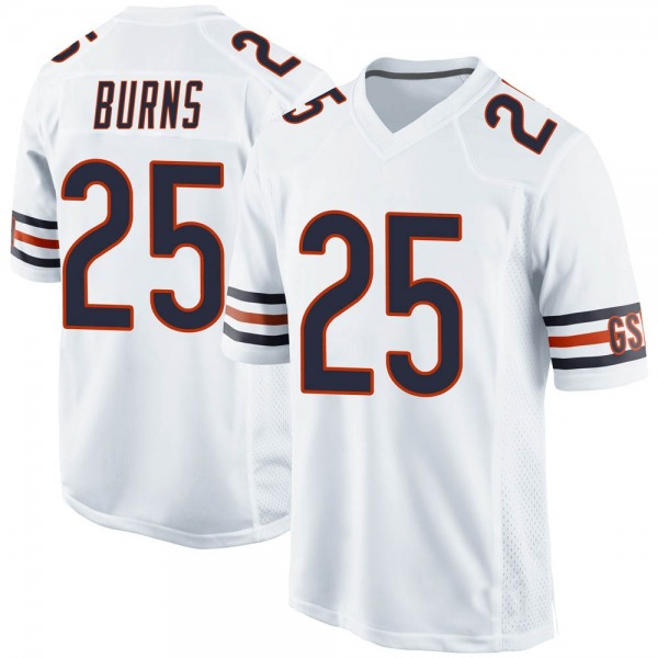 Men's Artie Burns Chicago Bears Game White 100th Season Jersey