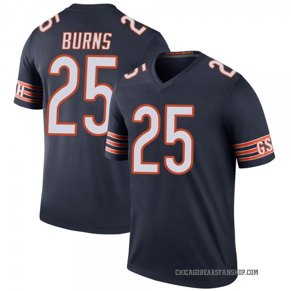 Men's Artie Burns Chicago Bears Legend Navy Color Rush Jersey