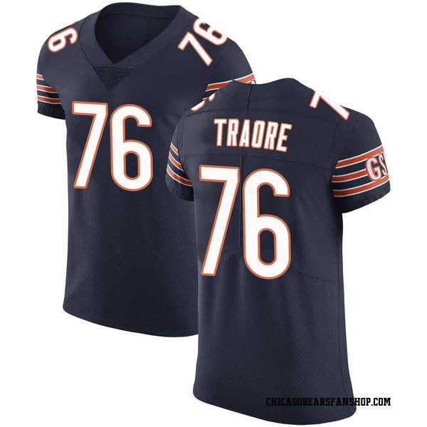 Men's Badara Traore Chicago Bears Elite Navy Team Color Vapor Untouchable Jersey