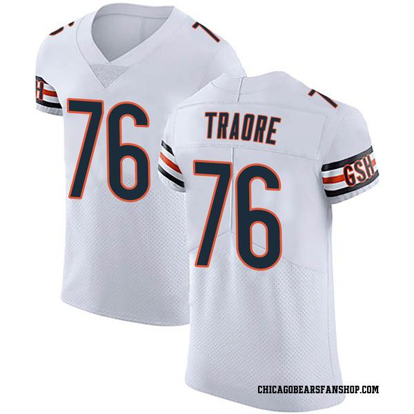 Men's Badara Traore Chicago Bears Elite White Vapor Untouchable Jersey