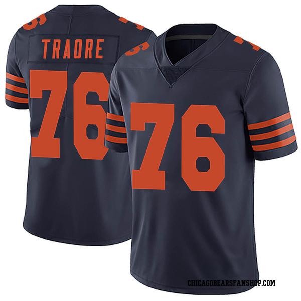 Men's Badara Traore Chicago Bears Limited Navy Blue Alternate Vapor Untouchable Jersey