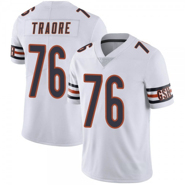 Men's Badara Traore Chicago Bears Limited White Vapor Untouchable Jersey