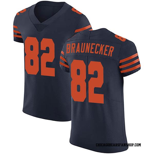 Men's Ben Braunecker Chicago Bears Elite Navy Blue Alternate Vapor Untouchable Jersey