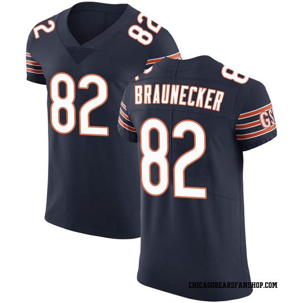 Men's Ben Braunecker Chicago Bears Elite Navy Team Color Vapor Untouchable Jersey