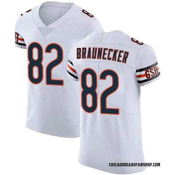 Men's Ben Braunecker Chicago Bears Elite White Vapor Untouchable Jersey