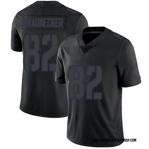 Men's Ben Braunecker Chicago Bears Limited Black Impact Jersey