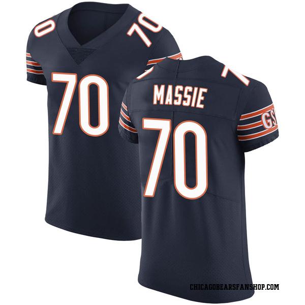 Men's Bobby Massie Chicago Bears Elite Navy Team Color Vapor Untouchable Jersey
