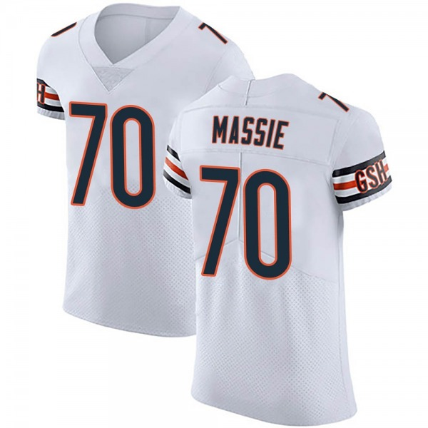 Men's Bobby Massie Chicago Bears Elite White Vapor Untouchable Jersey