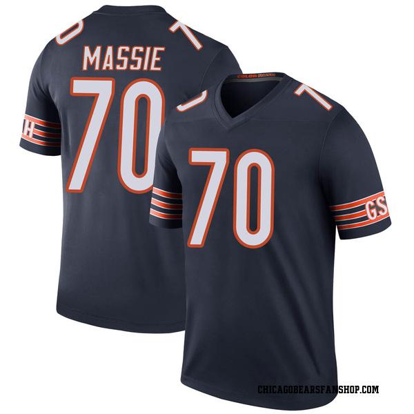 Men's Bobby Massie Chicago Bears Legend Navy Color Rush Jersey