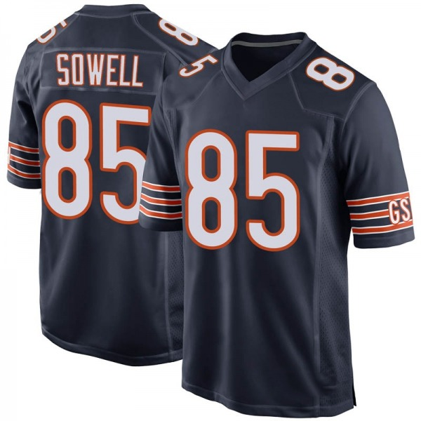Men's Bradley Sowell Chicago Bears Game Navy Team Color Jersey