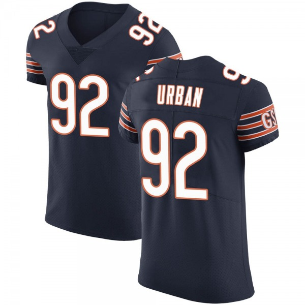 Men's Brent Urban Chicago Bears Elite Navy Team Color Vapor Untouchable Jersey