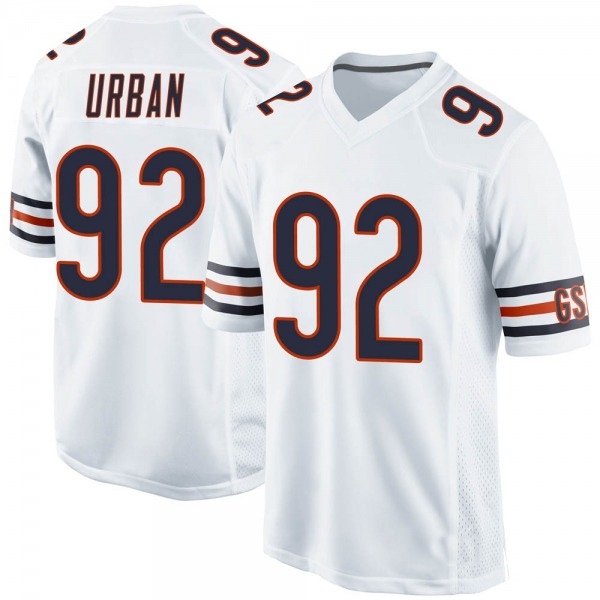 Men's Brent Urban Chicago Bears Game White 100th Season Jersey