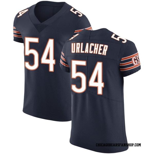 Men's Brian Urlacher Chicago Bears Elite Navy Team Color Vapor Untouchable Jersey
