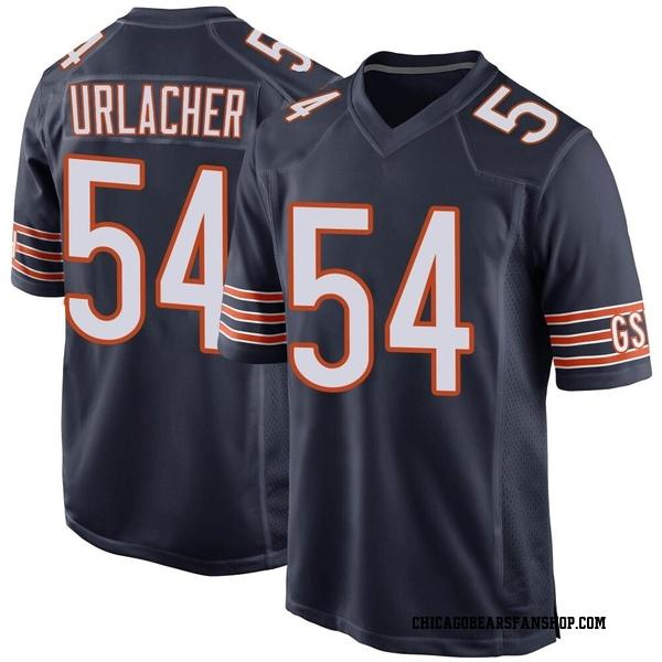 Men's Brian Urlacher Chicago Bears Game Navy Team Color Jersey
