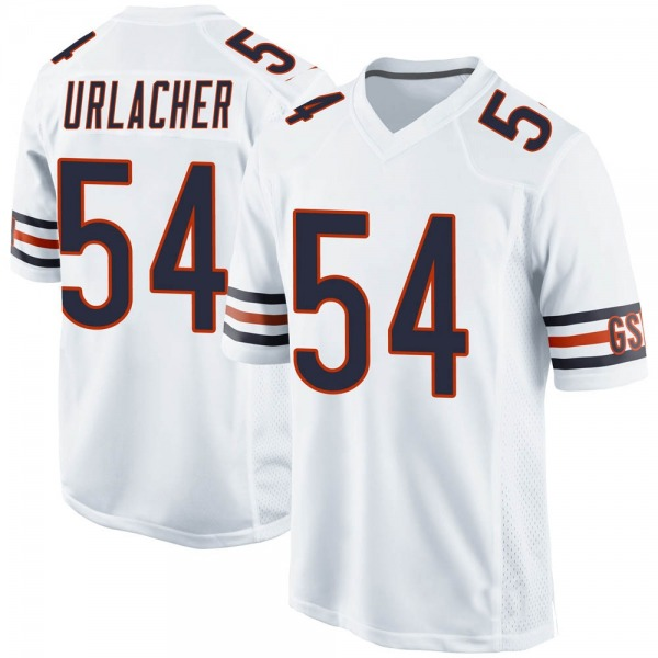 Men's Brian Urlacher Chicago Bears Game White Jersey