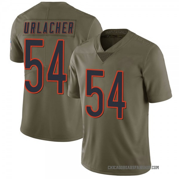 Men's Brian Urlacher Chicago Bears Limited Green 2017 Salute to Service Jersey