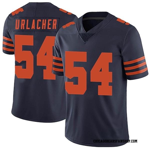 Men's Brian Urlacher Chicago Bears Limited Navy Blue Alternate Vapor Untouchable Jersey