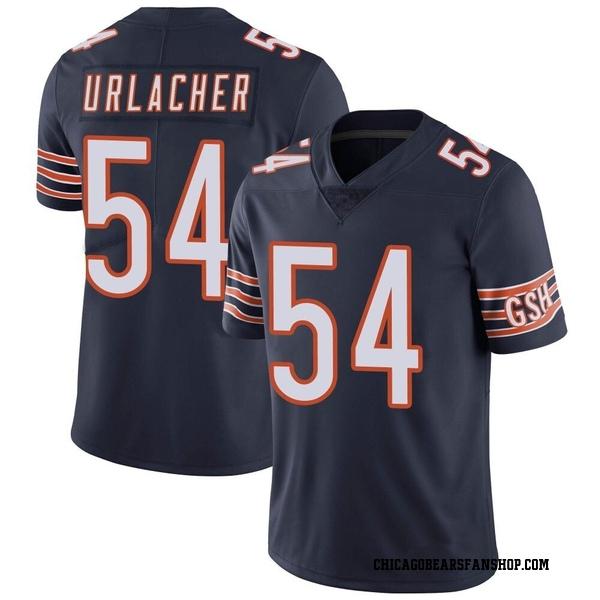 Men's Brian Urlacher Chicago Bears Limited Navy Team Color Vapor Untouchable Jersey