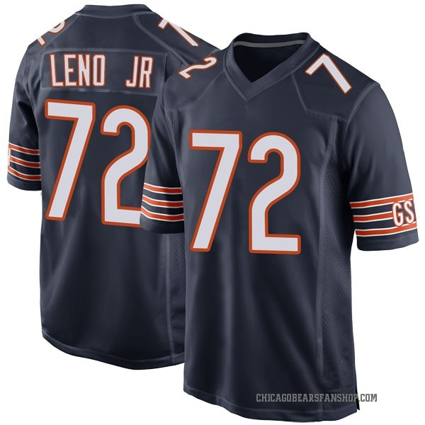Men's Charles Leno Jr. Chicago Bears Game Navy Team Color Jersey