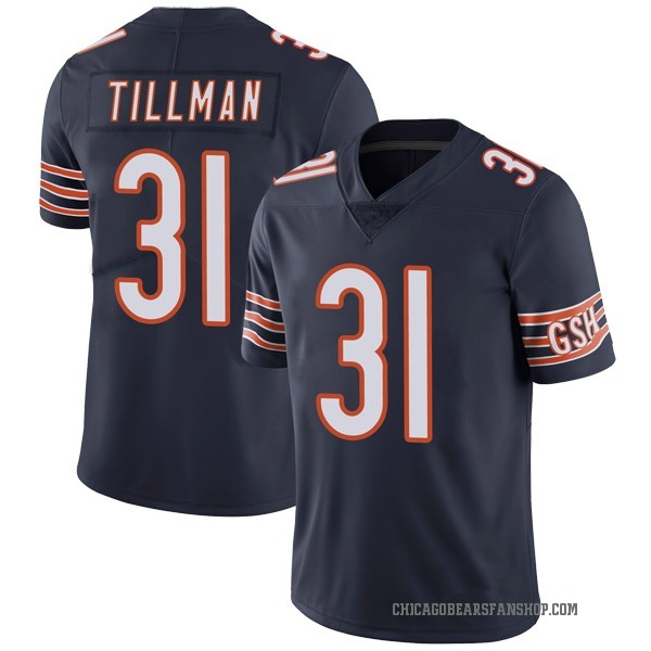 Men's Charles Tillman Chicago Bears Limited Navy Team Color Vapor Untouchable Jersey