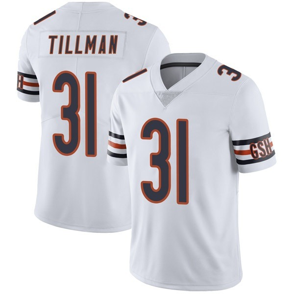 Men's Charles Tillman Chicago Bears Limited White Vapor Untouchable Jersey