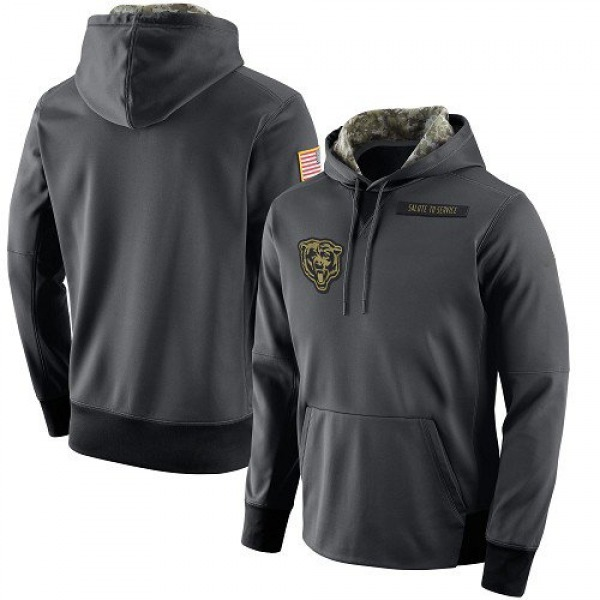 Men's Chicago Bears Anthracite Salute to Service Player Performance Hoodie