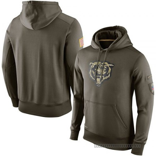 Men's Chicago Bears Olive Salute To Service KO Performance Hoodie