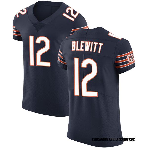 Men's Chris Blewitt Chicago Bears Elite Navy Team Color Vapor Untouchable Jersey