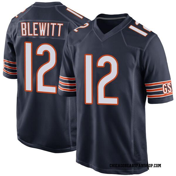 Men's Chris Blewitt Chicago Bears Game Navy Team Color Jersey