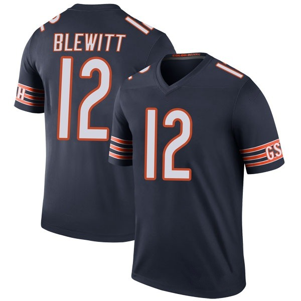 Men's Chris Blewitt Chicago Bears Legend Navy Color Rush Jersey