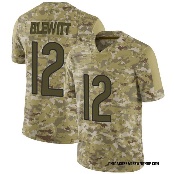 Men's Chris Blewitt Chicago Bears Limited Camo 2018 Salute to Service Jersey