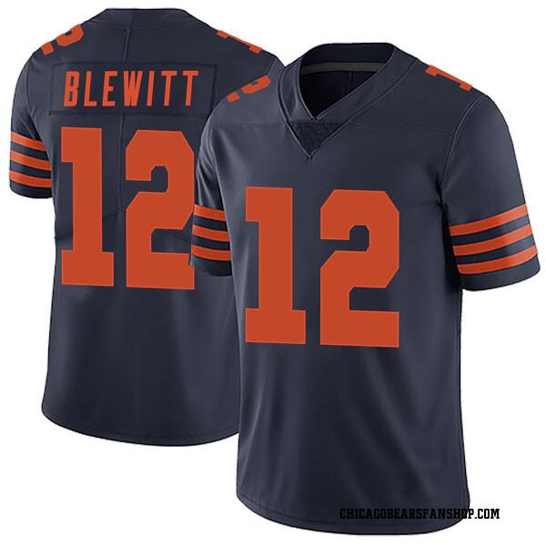 Men's Chris Blewitt Chicago Bears Limited Navy Blue Alternate Vapor Untouchable Jersey