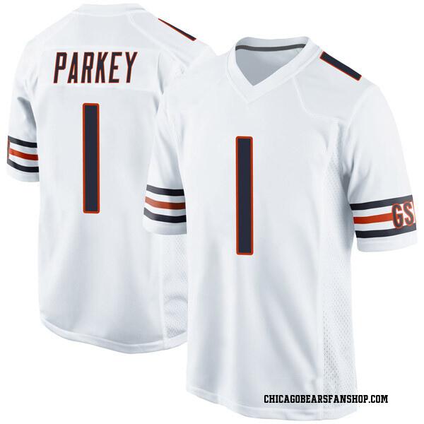 Men's Cody Parkey Chicago Bears Game White Jersey