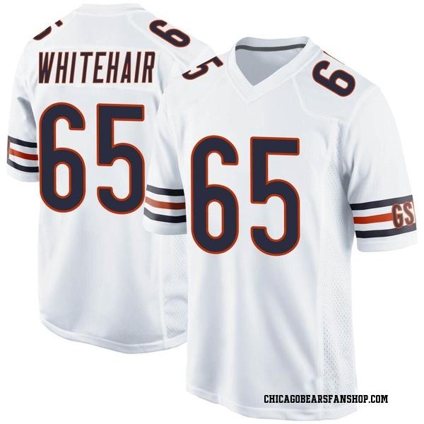 Men's Cody Whitehair Chicago Bears Game White Jersey