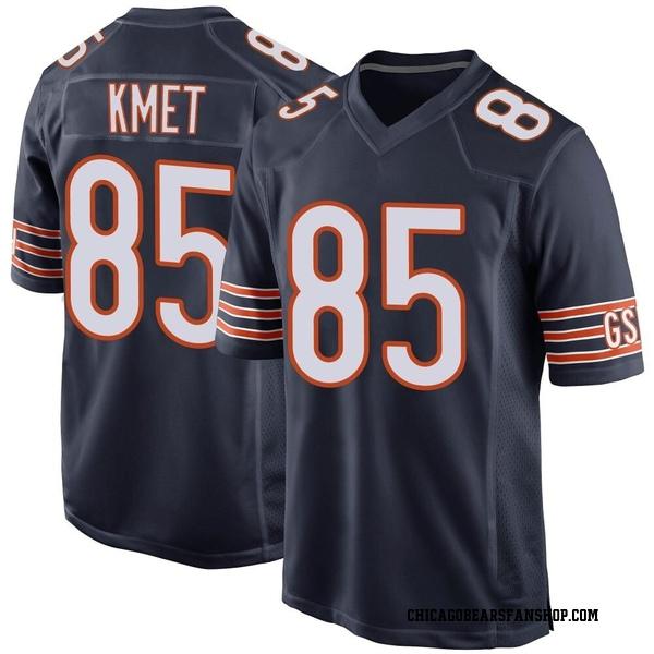 Men's Cole Kmet Chicago Bears Game Navy Team Color Jersey
