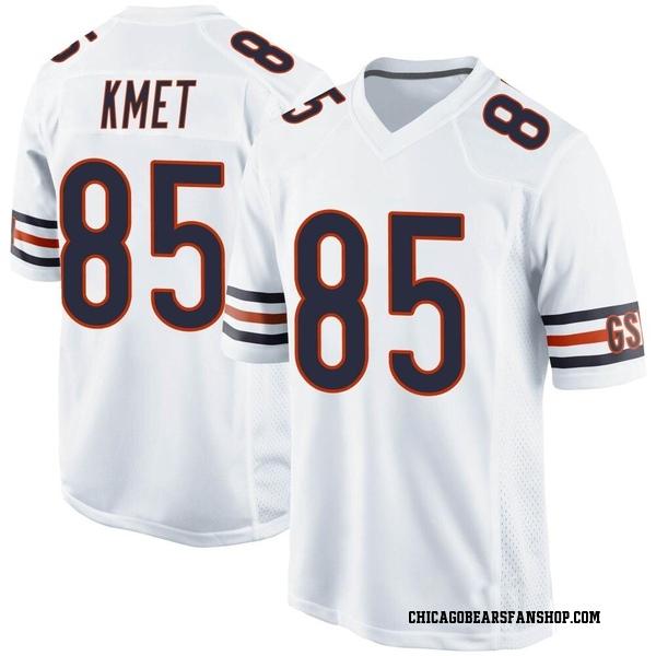 Men's Cole Kmet Chicago Bears Game White Jersey