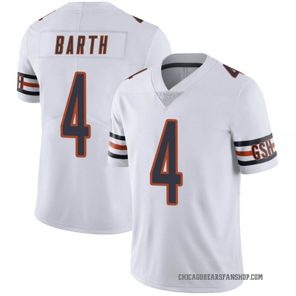 Men's Connor Barth Chicago Bears Limited White Vapor Untouchable Jersey